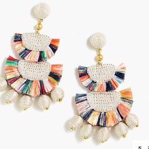 J crew Bead and raffia earrings